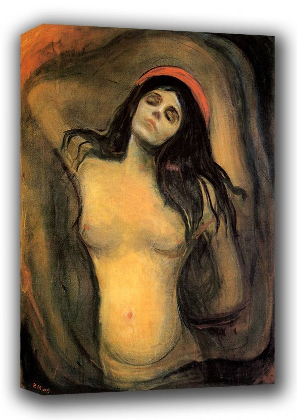 Munch, Edvard: Madonna. Fine Art Canvas. Sizes: A3/A2/A1 (00877)